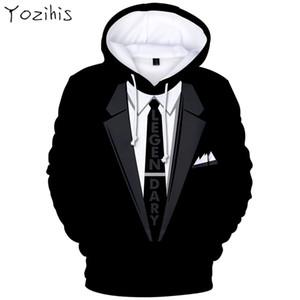 Yozihis Mode Homme 3D Costume Motif Imprimer À Manches Longues Hoodies pour Boyfriend Automne À Capuche Sweatershirt Casual Sweat À Capuche Hoodies
