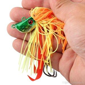 روزوود 4PCS / لوط 25G الرصاص الرقصة الرصاص معدن القفز السحر Multicolors الرقصة رئيس الحبار تنورة الصيد السحر معالجة صيد الاسماك