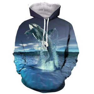 killer whale 3D printed men women hooded hoodie fashion graphic hoodie casual streetwear pullover Top Quality