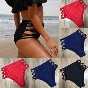 Women Thong Bottom Sexy Weave Swimsuit Bandage Bikini Swimwear Swim Suit Swim Trunks Women's Swimming Pants 2020 Bathing Suit