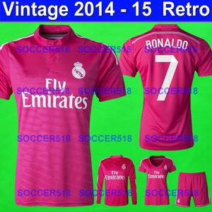 Real Madrid retrò 2014 2015 rosa Camisas de futebol calcio maglie JAMES RONALDO maillot de football camisetas de fútbol classica maglietta