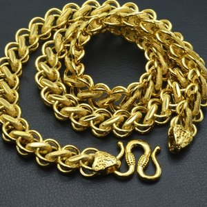 Heavy hip pop clássico colar de corrente para homens jóias 50 cm 60 cm 70 cm legth; Largura de faixa de 10mm C19011501