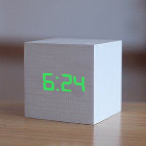 New Qualified Digital Wooden LED Alarm Clock Wood Retro Glow Clock Desktop Table Decor Voice Control Snooze Function Desk Tools