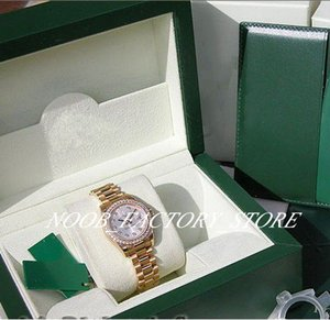 Luxury NEW Factory 2813 Automatic Movement 31MM LADIES 18K YELLOW GOLD SILVER DIAMOND DATEJUST PRESIDENT #179138 with original box Diving
