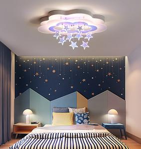 Novo teto Luzes menina Crianças Quarto Quarto Iluminação LED Modern montagem de superfície Remote Control Lamp Indoor