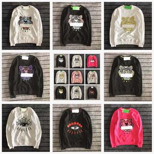 uomini di kenzo ricamo testa di tigre maglione di marca Parigi men hoodie puro cotone a maniche lunghe O-collo del donne ponticelli felpa kenzo sweatershirt