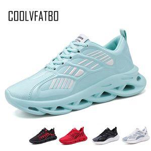 COOLVFATBO Hommes Chaussures de tennis Respirant cours Chaussures Hommes Souliers Chaussures de sport Sport Walking