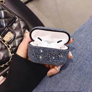 Cristal de diamant de cas de Shining Glistening Bingbing pour AirPod Pour Apple Airpods1 / 2 Protecteur Pour AirPod pro