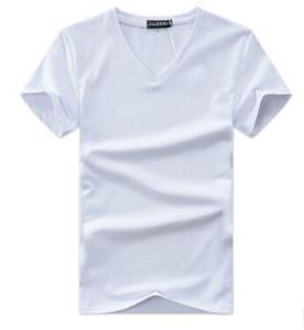 Camisetas de alta calidad para hombres al por mayor, camisetas de algodón de manga corta, camisetas de color puro para hombres con cuello en O para hombre T007
