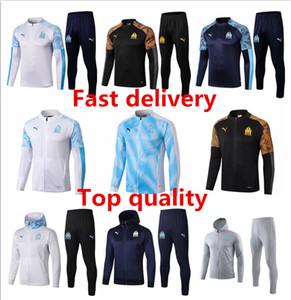 19 20 Marseille мужская куртка балахон Ocampos длинным рукавом Балотелли костюмы футбол Джерси с капюшоном тренировка рубашка Пайе футбол пальто одежды