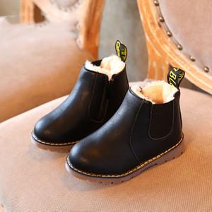 Scarpe inverno Rain Boots Martin Boots Big Boy bambini Ragazzi Breve Inghilterra in pelle ragazze singolo Boots Nuovi