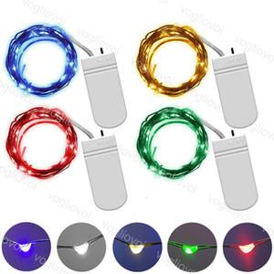 LED Strings 1M 2M 3M 6V Batterie-Fee-Licht-Silber-Draht LED-Streifen für Weihnachten Halloween Weihnachten Zuhause-Party Hochzeit Dekoration EUB