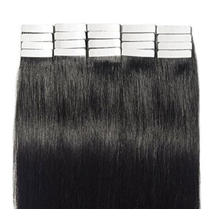 "Grade 10A--Brazilian remy human hair Silk Straight wave 16""-24"" PU tape in hair Extensions Skin Weft hair 100g pack 40pcs dhl free"