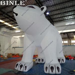 Открытый рождественские украшения гигантский надувной белый медведь с воздуходувкой надувной морской медведь для продажи