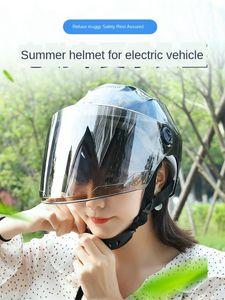 Motorcycle Helmet Half Electric Bicycle Scooter Motorbike Moto Bike Helmet Motocross Protect For Men Women Summer