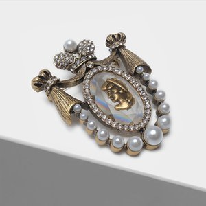 Amorita Boutique Lady Head Design Pins Court Vintage Brooch J 190513