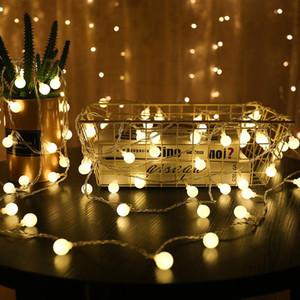 3M fadas Garland LED Bola de corda luzes Decorações de Natal para a decoração da árvore de Natal Decoração da casa ao ar livre Ano Novo