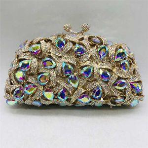 Últimas Luxo Cristal Wedding Party nupcial Africano Clutche bolsas bolsa de ombro mulheres Dia Embreagens Lady Moda Glitter Bolsas