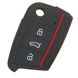 Borsa auto chiave del silicone Golf Sette Generazioni Alta 7 creativo simpatico Shell 4 colori tra cui scegliere EEA451