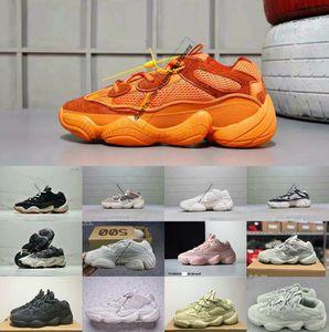 2019 Yeni Tuz Kanye 500 Batı Tasarımcı Erkekler ve Kadınlar Rahat ayakkabılar 500 3 M BLUSH TUZ SÜPER MOON SARI UTILITY SIYAH Pembe sneaker 36-45