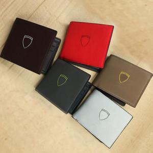 mode designer titulaire de la carte de crédit qualité classique en cuir sac à main plié notes et reçus sac Multi-carte Hommes véritable passeport couverture portefeuille
