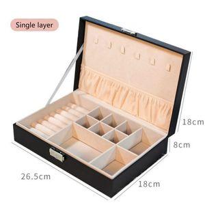 Multifuncional Jewelry Organizer Exibição de viagem caixas de jóias caixa portátil Jewelry Box Couro Armazenamento Joyeros Organizador De Joyas