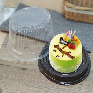 20 Set Clear Plastic 6 8 Inch Cake Holder Baking Packaging Boxes Containers Christmas Pastry Round Cakes Cookie Display Box 20 Set LiEcU