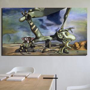 Salvador Dali Mémoire éternelle et Omen de la guerre civile Ppster Peintures sur toile Photos Pour Salon Décoration