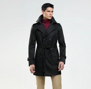 Mens trench coats homem casual casaco longo homens roupas slim fit sobretudo moda manga longa 2019 Primavera negócio novo designer preto