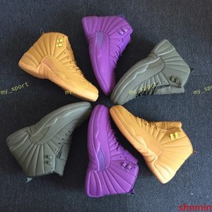 Dropshipping 12s Wheat Bordeaux PSNY The Master Black Wool Flu Game Basketball Shoes 12 Xii Sports Shoe Men Athletics Discount Sneaker