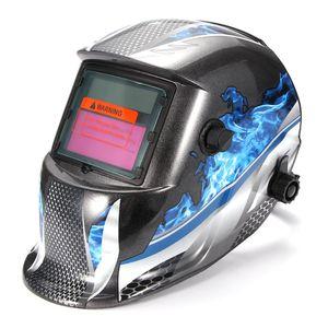 Solar soldadura automática cascos de soldador Máscara montado en la cabeza de soldadura al arco de argón tapa protectora Cascos plana tirón mitad helicoidal