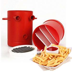 Las patatas fritas cortador Copa Cortadores 2 fabricante de patatas de contenedores en 1 máquina Haciendo Conjunto