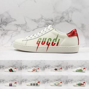 Высочайшее качество кроссовки Ace Blade Bee Мужская дизайнерская обувь для мужчин Модные парижские спортивные кожаные женские кроссовки кроссовки Chaussures Размер 36-44