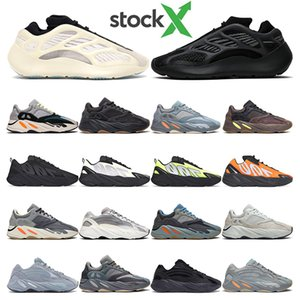Stock X Kanye chaussures de course baskets pour hommes Azael Alvah Utility Black Wave Runner MNVN Orange Phosphor baskets de sport pour femmes Fashion Outdoor