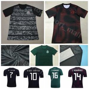 Meksika 2019 2020 Erkekler Ev Uzakta Futbol 11 VELA Jersey 3 SALCEDO 15 MORENO 2 AYALA 23 GALLARDO Meksika Futbol Gömlek Kitleri Üniforma