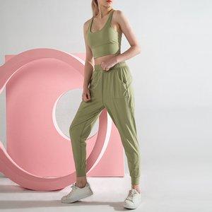 2020 Новый Bare Sense Motion повседневные брюки Женщины Упругие Свободные брюки лодыжки длины ноги дышащий Running