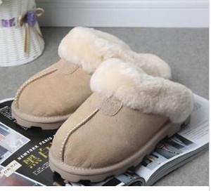 2020 de alta calidad WGG cálidos zapatillas de algodón de los hombres y de las mujeres zapatillas botas para la nieve botas de diseño slippliers algodón cubierta de la Mujer