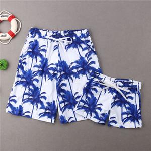 Famille Matching Swimwear Père Fils Bermudas Maillots Hommes Enfants Garçon Shorts Beachwear été Costume Natation