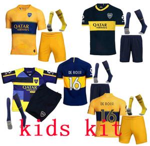 qualidade superior 2019 2020 nova Boca Juniors KIDS Casa Fora filhos kit de Futebol uniformes de futebol Jersey afastado GAGO TEVEZ Futebol calções + meias