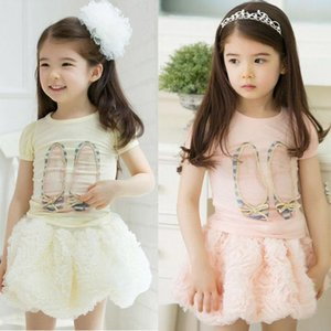 Children Outfit Kids Sets Girls Skirts Girl Skirt Tutu Skirts Girls Shirt T Shirt Baby Tutu Tiered Skirts Children Clothing Kids Clothes