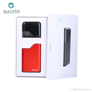 100% Authentic Suorin Air Starter Kits 16W build-in 400mah Battery 2ml Cartridge Indicator Light Electronic Cigarette All in one Ecigs Kit