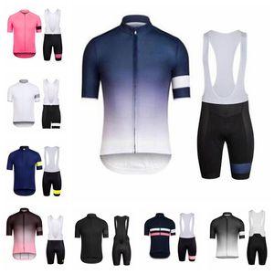 2020 camisa Rapha Homens Equipe Verão Ciclismo Jersey Ropa Ciclismo manga curta bicicleta BIB conjunto QuickDry MTB bicicleta desgaste C629-84