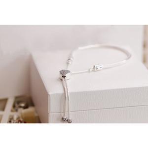 Nouveau 100% 925 bracelet En Argent Sterling 598699c01 avec LOGO gravé pour pandoras charmes 10 pcs / lot vous pouvez mixte taille Bateau Libre