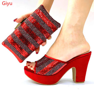 beautiful Italian Matching Shoes And Bag Set African Style Ladies Shoes And Bag To Match For Wedding Dress KL1-8