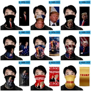 Multifunction Magic Turban Cloak Hat Wristband 2020 Election US President Trump Print Dust Sun Protect Face Masks Cycling Mask Adult 7oh E19