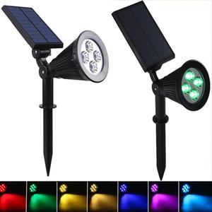 Spotlight Solar Lawn Luz de inundação ao ar livre Jardim 7 LED ajustável 7 cores em 1 Luz Paisagem Lâmpada de parede para Patio Decor