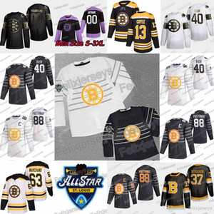 40 Tuukka Rask 2020 All Star Boston Bruins David Pastrňák Charlie Coyle David Krejci Patrice Bergeron Marchand Torey Krug Zdeno Chara Jersey