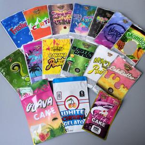 Jokesup tubarão bolo BAG 3,5 g Saco do dinheiro Runtz Frosties ZOURZ à prova de cheiros Bags Vape Embalagem para a seco Herb16 tipos de sacos de Mylar