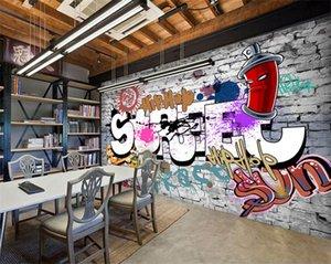 выполненные на заказ Pvgy de parede 3D выдвижные старые обои TV wall wall 3D car graffiti wallpaper room