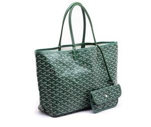 Goyarrd sıcak en çok satan Yüksek Kalite moda Paris Sıcak Satış hakiki deri Goy St. Lou Pm Yeşil kaplı tuval Tote Kılıf orta